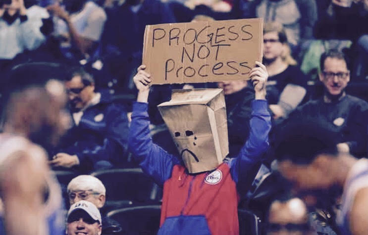"This fan finds out that ""the process"" isn't always easy."