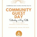 Community Guest Day May 12th, 2018