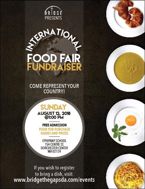 Bridge Ministry Food Fair Fundraiser, August 12, 2018.