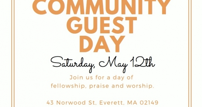 Community Guest Day: May 12th